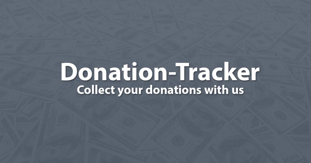 donation tracker collect your donations with us